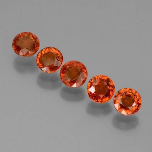 thumb image of 0.5ct Round Facet Orange Spessartite Garnet (ID: 436758)