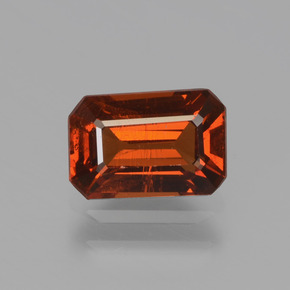 1.3ct Octagon Facet Orange Spessartite Garnet Gem (ID: 439761)