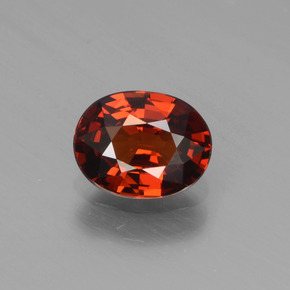 1.09 ct Oval Facet Orange Spessartite Garnet Gemstone 6.95 mm x 5.4 mm (Product ID: 439854)
