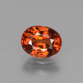 Fire Orange Granate Espesartina Gema - 1.3ct Forma ovalada (ID: 439975)