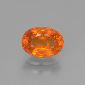2.34 ct Oval Facet Orange Spessartite Garnet Gemstone 8.82 mm x 6.4 mm (Product ID: 440433)