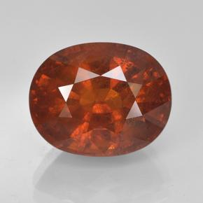 Orange Spessartite Garnet Gem - 7.9ct Oval Facet (ID: 486936)