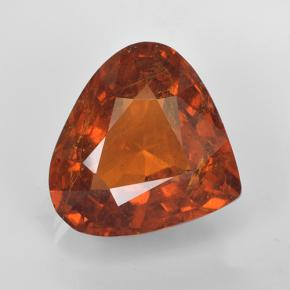 6.8ct Pear Facet Orange Spessartite Garnet Gem (ID: 486938)