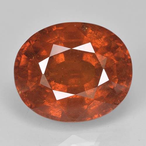 Orange Spessartite Garnet Gem - 15.5ct Oval Facet (ID: 486941)