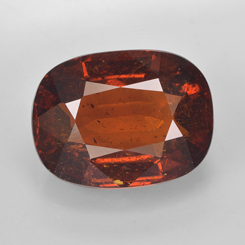 thumb image of 11ct Cushion-Cut Red Orange Spessartite Garnet (ID: 486942)