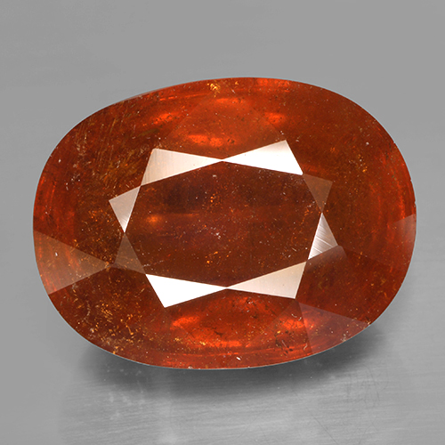 23.8ct Oval Mixed Cut Orange Spessartite Garnet Gem (ID: 487522)