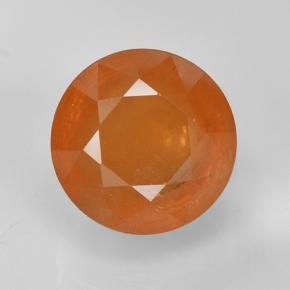 Warm Apricot Orange Spessartite Garnet Gem - 7.2ct Round Mixed Cut (ID: 488686)