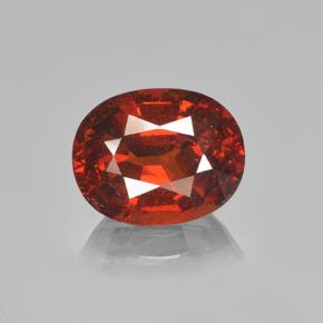 4.4ct Oval Facet Orange Spessartite Garnet Gem (ID: 503863)