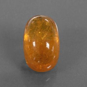 Orange Spessartite Garnet Gem - 5.3ct Oval Cabochon (ID: 504723)