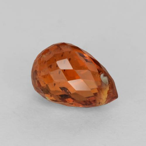 Medium Orange Granate Espesartina Gema - 1ct Corte Briolette con Agujero (ID: 536852)