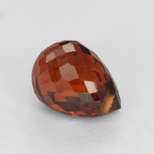 Currant Red Spessartite Garnet Gem - 1.2ct Briolette with Hole (ID: 536862)