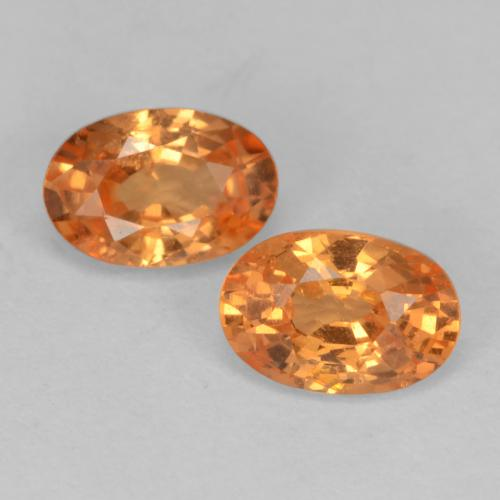 Amber Orange Granate Espesartina Gema - 0.7ct Forma ovalada (ID: 536875)