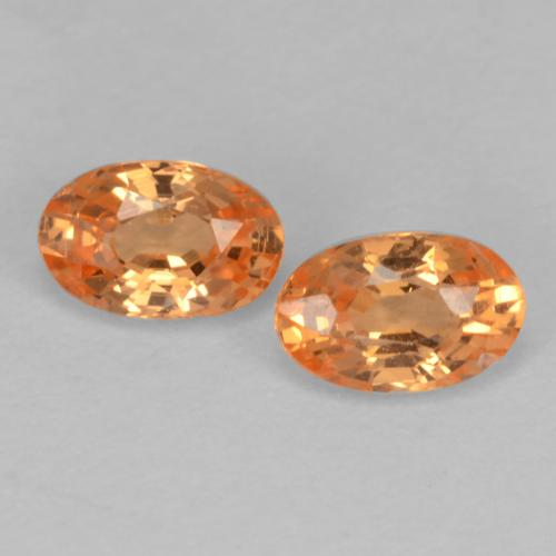 Bright Orange Spessartite Garnet Gem - 0.4ct Oval Facet (ID: 536883)