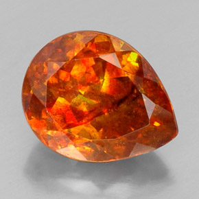 19 7ct Orange Sphalerite Gem From Mexico