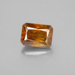 Medium Orange Sphalerite Gem - 2.2ct Octagon / Scissor Cut (ID: 351721)