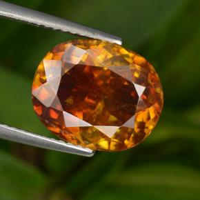 thumb image of 7.3ct Oval Facet Reddish Orange Sphalerite (ID: 466290)