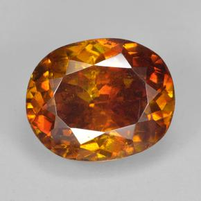 Deep Brownish Orange Sphalerite Gem - 7.3ct Oval Facet (ID: 502065)
