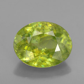 Buy 2.68 ct Yellowish Green Sphene 9.60 mm x 7.6 mm from GemSelect (Product ID: 192437)