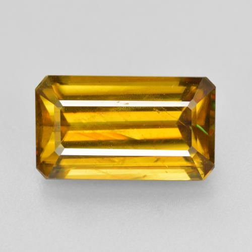 Buy 5.29 ct Greenish Golden Sphene 13.07 mm x 7.6 mm from GemSelect (Product ID: 352488)