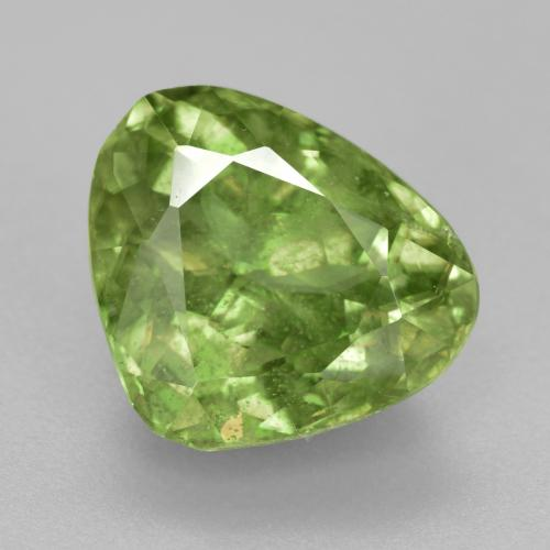 Yellowish Green Sphene Gem - 5ct Pear Facet (ID: 380599)