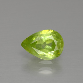 Medium-Light Green سيفين حجر كريم - 1.3ct وجه كمثرى (ID: 390443)