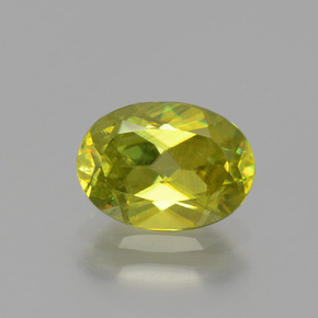 Lemon Yellow سيفين حجر كريم - 1.5ct وجه بيضاوى (ID: 390817)
