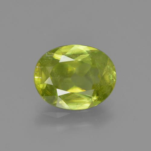 Lemon Yellow سيفين حجر كريم - 2.1ct وجه بيضاوى (ID: 413956)