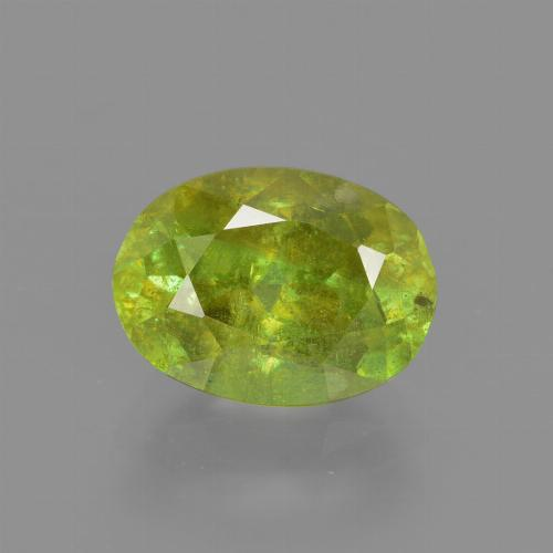 2.31 ct Oval Facet Golden Green Sphene Gemstone 9.08 mm x 6.7 mm (Product ID: 413957)