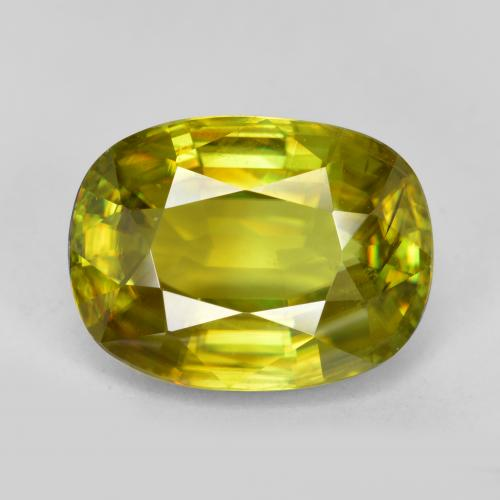 Buy 4.62 ct Golden Green Sphene 11.28 mm x 8.5 mm from GemSelect (Product ID: 467949)