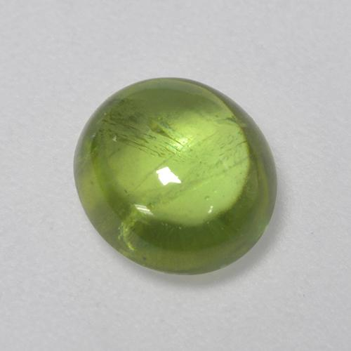 Golden Green Sphene Gem - 1.5ct Oval Cabochon (ID: 521280)