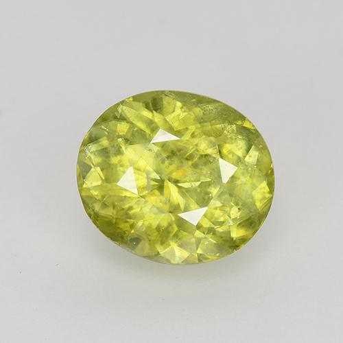 Lemon Yellow Esfena Gema - 1.1ct Forma ovalada (ID: 526322)