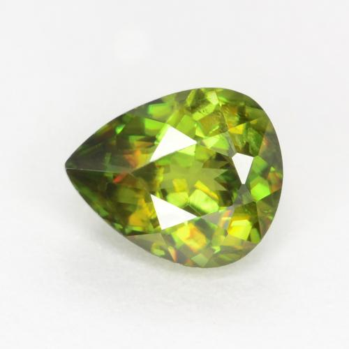 Medium-Dark Green Esfena Gema - 0.6ct Corte en forma de pera (ID: 545140)