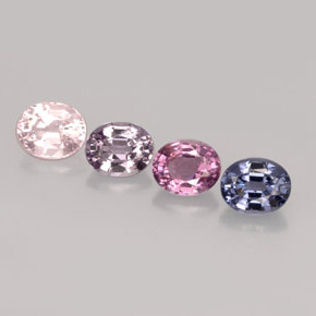 2.03 ct total Natural Multicolor Spinel