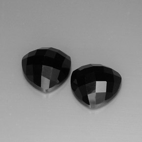 Black Spinel Gem - 4.5ct Trillion Rose-Cut (ID: 267551)
