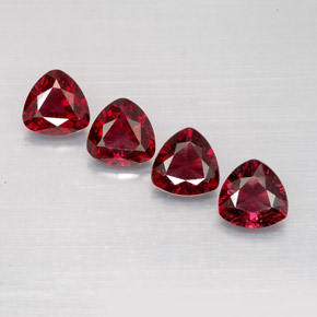 1.98 ct total Natural Deep Red Spinel