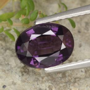 Viola scuro Spinello Gem - 1.4ct Ovale sfaccettato (ID: 314148)