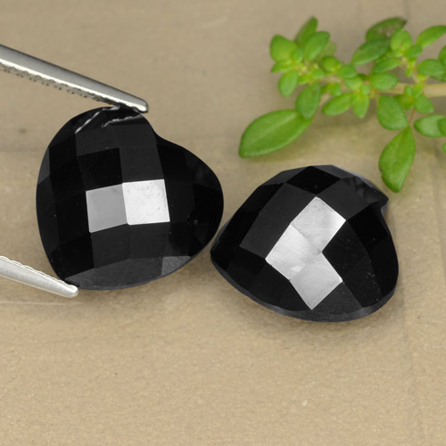 Black Spinel Gem - 7.3ct Heart Rose-Cut (ID: 328317)