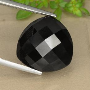Black Spinel Gem - 11ct Trillion Rose-Cut (ID: 328421)