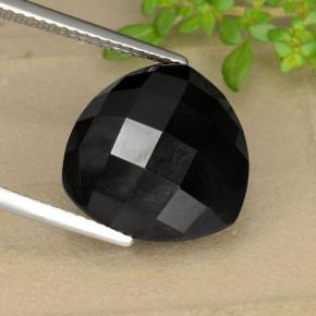 Black Spinel Gem - 11ct Trillion Rose-Cut (ID: 328453)
