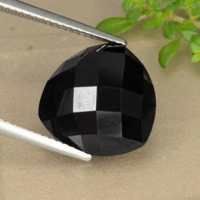 Black Spinel Gem - 11ct Trillion Rose-Cut (ID: 328477)
