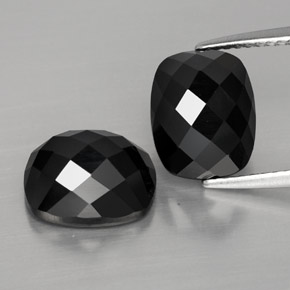 4.2ct Cushion Rose-Cut Black Spinel Gem (ID: 328995)