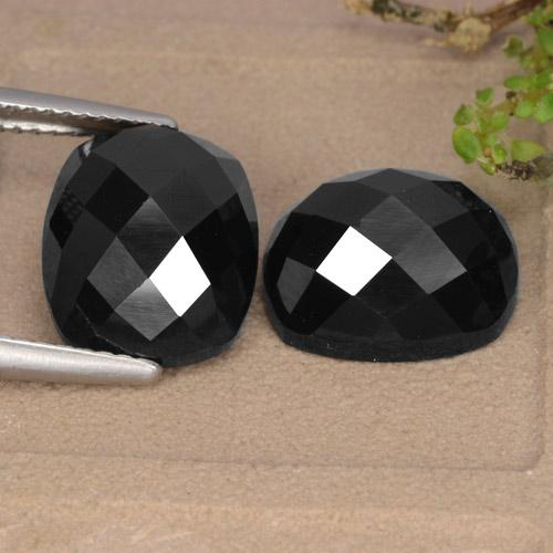 Black Spinel Gem - 7.6ct Cushion Rose-Cut (ID: 335827)