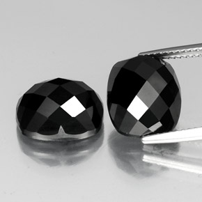 Black Spinel Gem - 7.3ct Cushion Rose-Cut (ID: 335829)