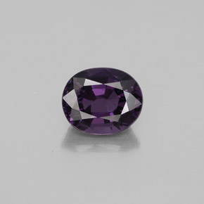 Pinkish Violet Spinel Gem - 1.1ct Oval Facet (ID: 349314)