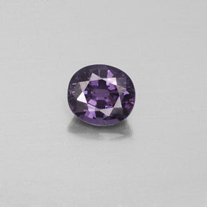 1.1ct Oval Facet Medium Violet Spinel Gem (ID: 349322)