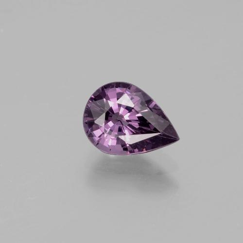 Medium-Dark Purple Espinela Gema - 1.3ct Corte en forma de pera (ID: 349462)