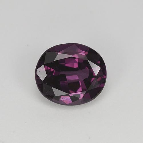 Pinkish Violet Spinel Gem - 1.1ct Oval Facet (ID: 349502)