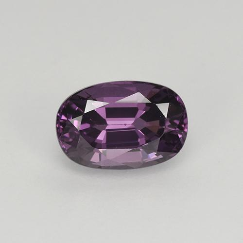 Pinkish Violet Spinel Gem - 1.2ct Oval Facet (ID: 349526)