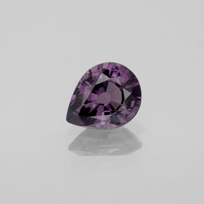 Purple Spinel Gem - 1.1ct Pear Facet (ID: 353076)
