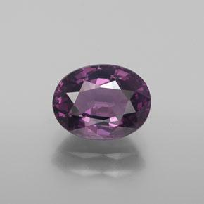 1.6ct Oval facettiert tieflila Spinell Edelstein (ID: 365347)